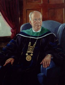 Presidential Portrait of Charles Mullen by Anne Burgess Rowe